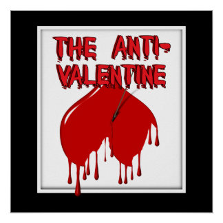 Shot to the Upside Down Heart (Anti-Valentine) Poster