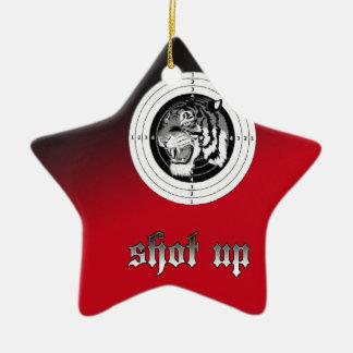 Shot up Tiger Ceramic Star Decoration