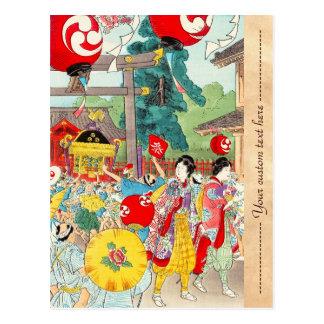 Shotei Takahashi Kanda Matsuri vintage japanese Postcards