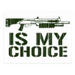 Shotgun Is My Choice - Gamer Gaming Gun Post Cards