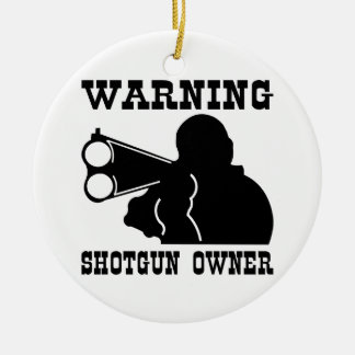Shotgun Owner Round Ceramic Decoration