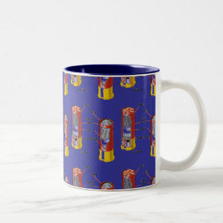 SHOTGUN SHELL MUG BLUE BACKGROUND
