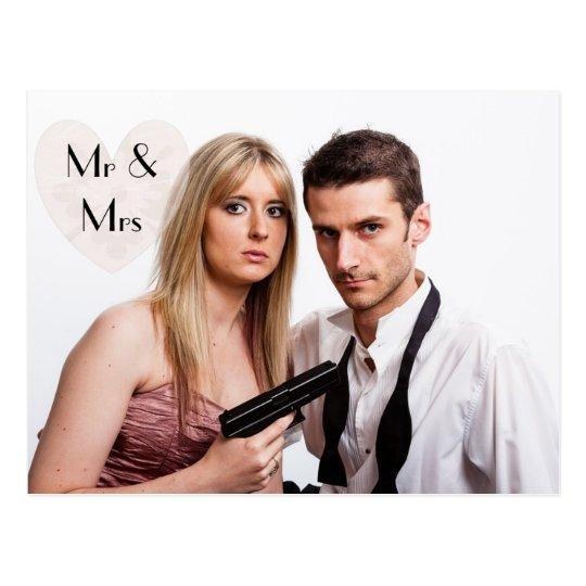 Shotgun Wedding Elopement Humourous Announcements Postcard