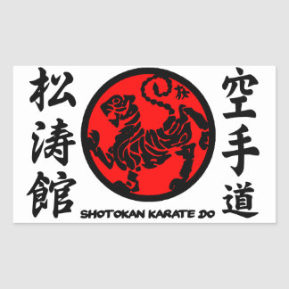 Shotokan adhesive Karate-pity Rectangular Sticker