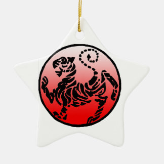 Shotokan Black & Blue Tiger Christmas Ornament