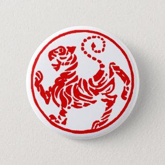 Shotokan Red Rising Sun Tiger Japanese Karate 6 Cm Round Badge