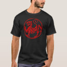 Shotokan Red Rising Sun Tiger Japanese Karate T-Shirt