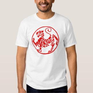 Shotokan Red Rising Sun Tiger Japanese Karate Tee Shirt