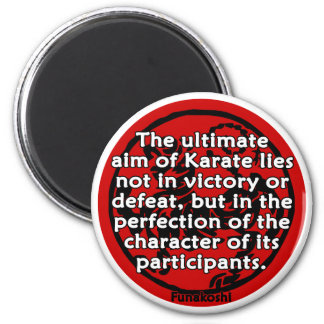 Shotokan - The Ultimate Aim 6 Cm Round Magnet