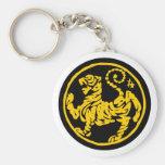 Shotokan Tiger Basic Round Button Key Ring