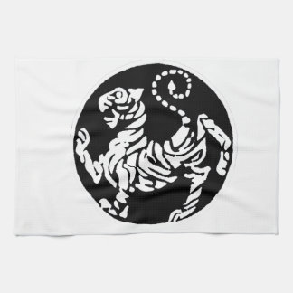 SHOTOKAN TIGER BLACK AND WHITE TEA TOWEL