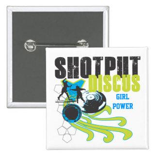 Shotput and Discus - Girl Power button