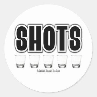 Shots Round Sticker