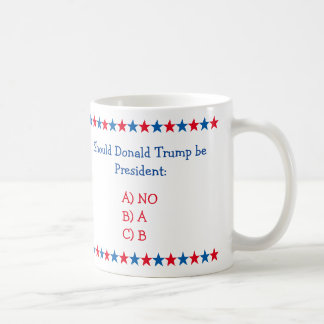 Should Donald Trump Be President Funny Tea Coffee Coffee Mug