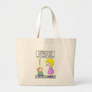 Should kid accept candy from federal agents? jumbo tote bag
