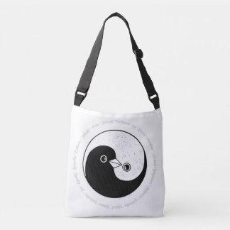 Shoulder bag b/w YinYang doves harmony