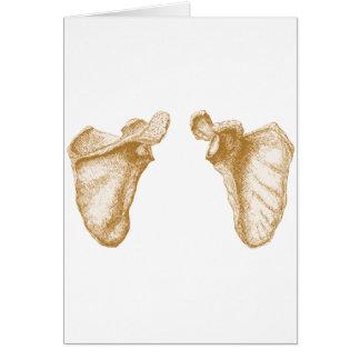 Shoulder blades. greeting card