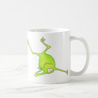 Shoulder Stand Yoga Frog Basic White Mug