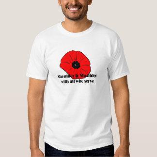 Shoulder To Shoulder Remembrance Day T-Shirts