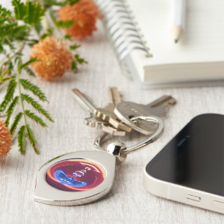 shoulders 1 Silver-Colored swirl key ring