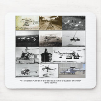 Shoulders of giants Helicopter Mouse Pad