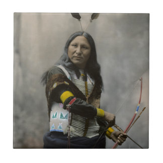 Shout At Oglala Sioux 1899 Indian Tile