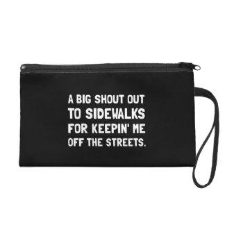 Shout Out Sidewalks Wristlet Purse