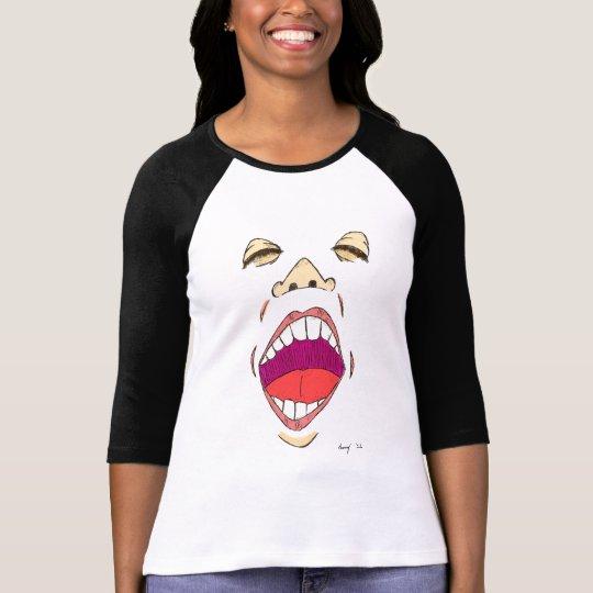 """""""Shout"""" Womens Raglan T-Shirt"""