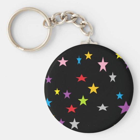 shouting stars basic round button key ring