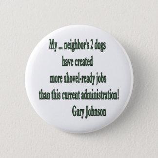Shovel-ready Jobs Quote 6 Cm Round Badge