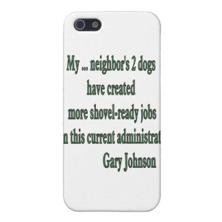 Shovel-ready Jobs Quote iPhone 5 Case