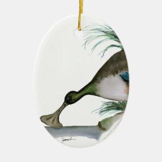 shoveller duck, tony fernandes christmas ornament