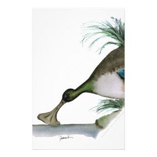 shoveller duck, tony fernandes stationery