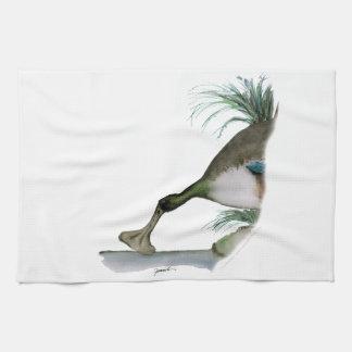 shoveller duck, tony fernandes tea towel