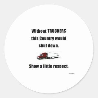 Show a little Respect Round Sticker