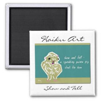Show and Tell Haiku Art Magnet