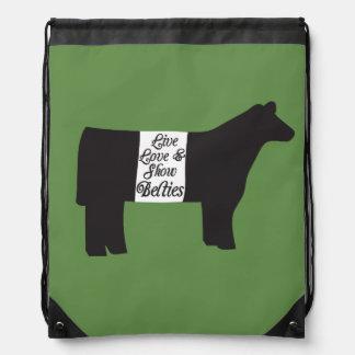 Show Belties Drawstring Back Pack Drawstring Bag