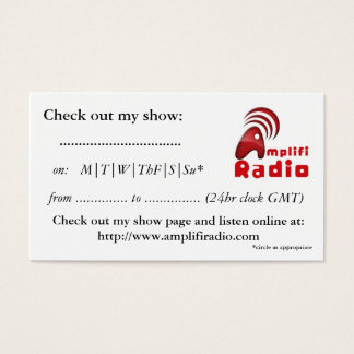 Show Cards (pack of 100)