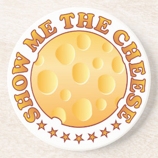 Show Cheese Brown Drink Coaster