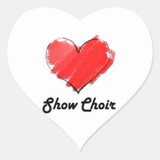 Show Choir Heart Sticker