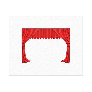 Show Curtain Gallery Wrap Canvas