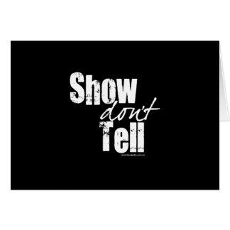 Show Don't Tell Note Card