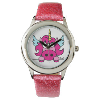 Show Enfant Girl Rose Unicorn Wristwatch