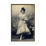 Show Girl Risque French Postcard
