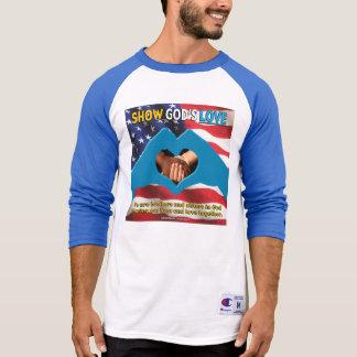 SHOW GOD'S LOVE Men's 3/4 Blue Sleeve T-Shirt