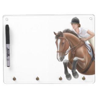 Show Jumper Horse Dry Erase Board