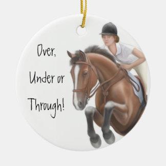 Show Jumper Horse Ornament