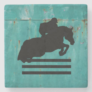 Show Jumper Silhouette for Horse Lovers Stone Coaster