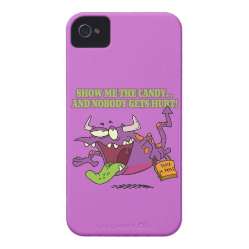 show me the candy funny halloween monster toon iPhone 4 Case-Mate cases