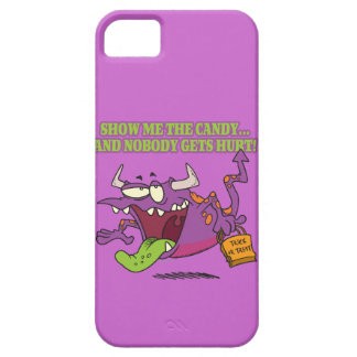 show me the candy funny halloween monster toon iPhone 5 covers